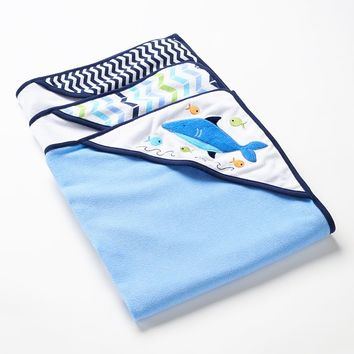 Just Born 3-pk. Hooded Towels (Blue)