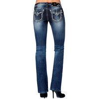 Miss Me Women's Pyramid Stud Border Boot Cut Jeans
