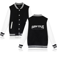 KPOP BTS Bangtan Boys Army  Fall Winter Promotion Harry Styles Fashion Letters Pattern Pop Cool Hip Hop Casual Baseball Wear AT_89_10