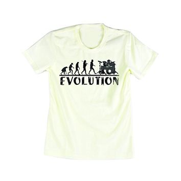 Emeri Unisex Adult's Evolution Quotes Cotton Tshirt