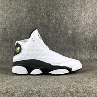 "Air Jordan 13 ""Love & Respect"" White/Black Basketball Shoes 40-47.5"