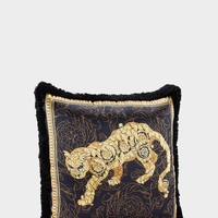 Versace Lion Barocco Silk Pillow - Home Collection | US Online Store