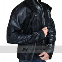 Guardians of the Galaxy Chris Pratt Black Leather Jacket