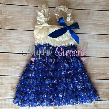 Ivory blue dress, newborn dress, Lace dress, baby girl outfit, infant outfit, special occasion dress, toddler dress, girls dress,