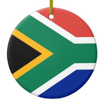 Ornament with flag of South Africa