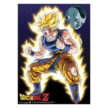 Great Eastern Entertainment Dragon Ball Z Super Saiyan Goku Wall Scroll