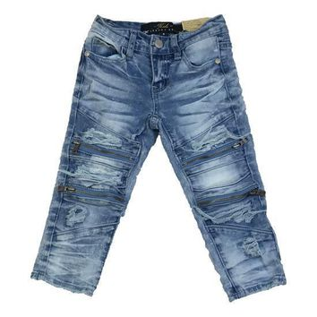 Jordan Craig - Toddlers - Vintage Biker Jeans With Zippers