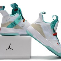 Air Jordan XXXIII Basketball Shoes - White/Green