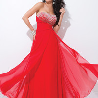 Strapless Jeweled Bust Line Tony Bowls Le Gala Formal Prom Dress 114535