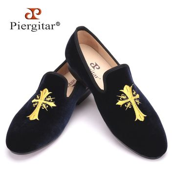 Exquisite Embroidery patterns Men Velvet Shoes Men Wedding and Party Loafers Plus Size Men Flats Size US 4-17 Free shipping