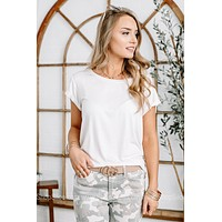 Anything But Basic Active Tee   White