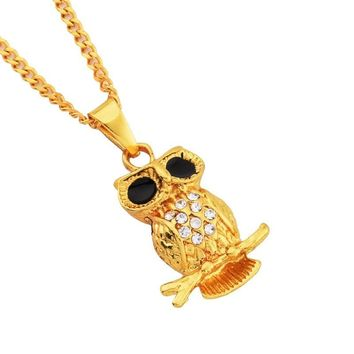Shiny New Arrival Jewelry Stylish Gift Alloy Owl Necklace [10819553731]