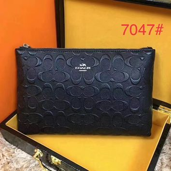 COACH MEN'S NEW TOP LEATHER HAND BAG