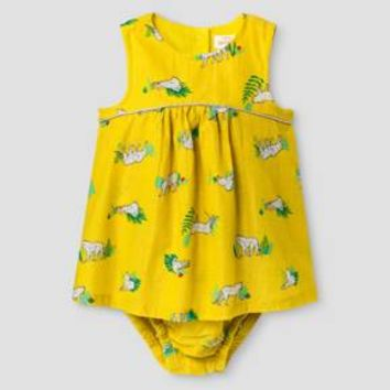 Baby Girls' Lurex Stripe Romper - Baby Cat & Jack™ Yellow