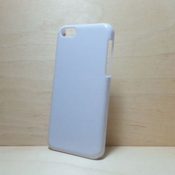 iphone 5c hard plastic case - White (for decoden phone case)