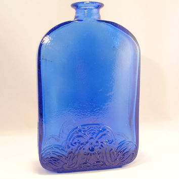 Bottle, Vidrios Made, Spanish Vase, Cobalt Blue Glass, Jug, Bottle, European