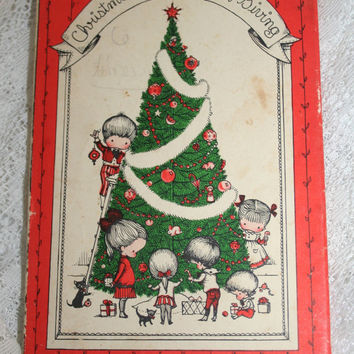 "Christmas Book ""Christmas is a Time for Giving"" by Joan Walsh Anglund Children's Book Christmas Picture Book Red White & Green Illustrations"