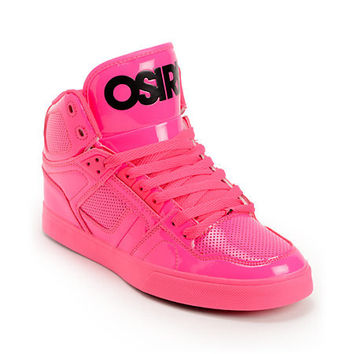 Osiris NYC 83 Pink Blacklight Skate Shoes at Zumiez : PDP