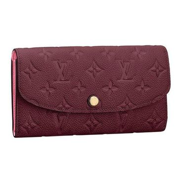 DCCK1 Louis Vuitton Monogram Empreinte Leather Emilie Wallet Raisin Article: M62015