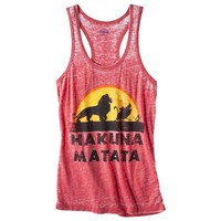 Juniors Hakuna Graphic Tank - Red  XL