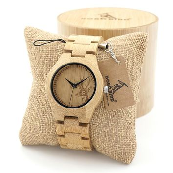 Couples Whitetail Deer Wooden Watches