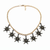 Sparkling Stars Pendant Necklace