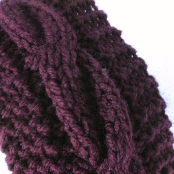 Knit Cabled Ear warmer Pattern , Knit Braided Headband Pattern Wide Knit Headband Pattern