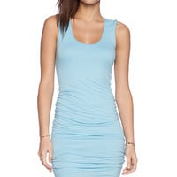 Velvet by Graham & Spencer Gauzy Whisper Precious Dress in Baby Blue