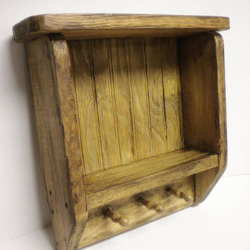 Tavern Shelf, Wood Shelving, Primitive Country Decor