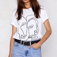 2 Faced Scribble Tee