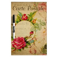 French Postcard Dry Erase Board