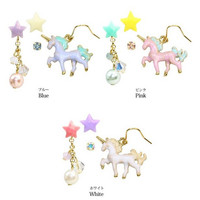Unicorn and Stars Earrings Studs