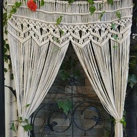 Boho Macrame Window Door Wall Panel