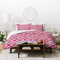 Bianca Green Aztec Diamonds Bright Duvet Cover