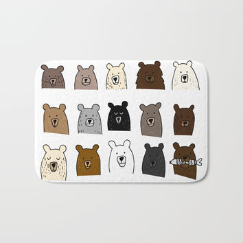 Bear Portraits Bath Mat by doucettedesigns