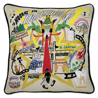 Hollywood Hand Embroidered Pillow