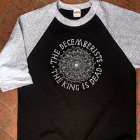 The decemberists t shirt 3/4 sleeve baseball the king is dead crane wife flying Album Rock Music Gig Hipster logo indie emo