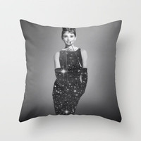 Audrey Hepburn Throw Pillow by Laure.B | Society6