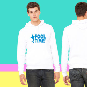 pool time! with a whale sweatshirt hoodie