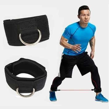 2 Pcs Ankle Twin Strap Fitness Strap Leg Thigh Pulley Strap Gym Cable Attachment Leg for Bodybuilding 40 * 5cm