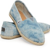 BLUE WASHED SUEDE WOMEN'S CLASSICS