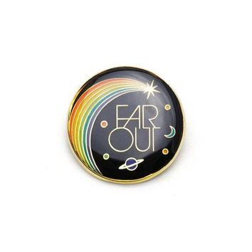 """Far Out"" Enamel Pin"