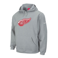 Detroit Red Wings Playbook Logo Hoodie (Athletic Gray) - IceJerseys.com - Official Fan Shop