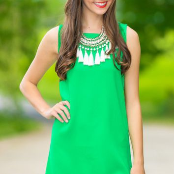 Bright Places Green Scallop Dress