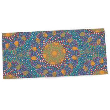 "Miranda Mol ""Prismatic Orange"" Orange Blue Abstract Desk Mat"