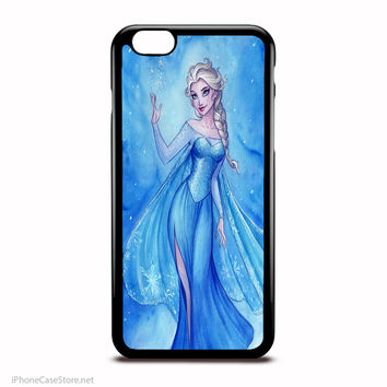 Elsa Frozen Watercolor Art Walt Disney Case For Iphone Case