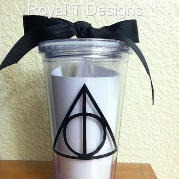 16oz Personalized Harry Potter Triangle Tumbler