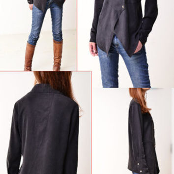 Missing You - cool asymmetrical shirt (Y3111)