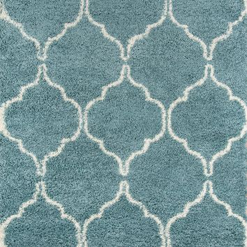 "Contemporary Area Rug Maya Collection  Blue 9'3""x12'6"""