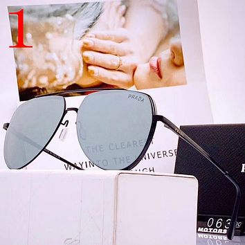 Prada Fashion Women Men Summer Sun Shades Eyeglasses Glasses Sunglasses